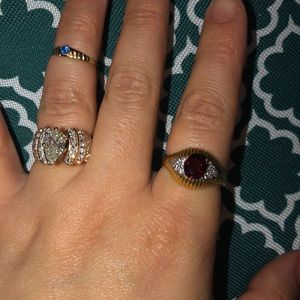 Ruby Evil Eye 18kt Yellow Gold with Diamonds